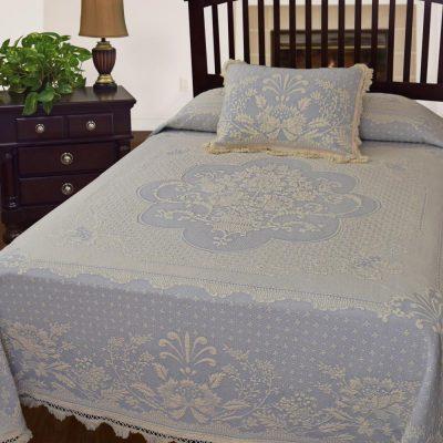 Abigail Adams Matelasse Bedspread French Blue