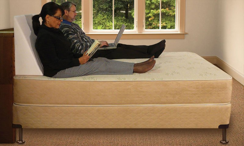 Bed Wedge. Back Support Pillow For Reading In Bed Bed Rest