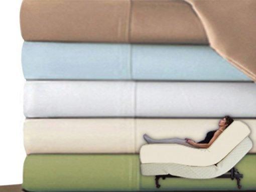 Split King Deep Pocket Sheet Set Premium Adjustable Beds