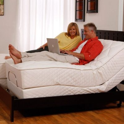 Brio 60 Adjustable Bed Couple Relaxing